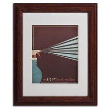 """My Big Fat Greek Wedding"" by Megan Romo Framed Painting Print"
