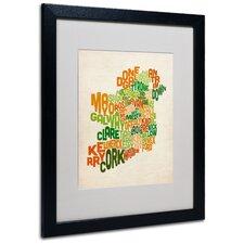"""""""Ireland Text Map"""" by Michael Tompsett Framed Textual Art"""