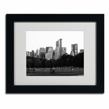 "<strong>Trademark Fine Art</strong> ""Sheep's Meadow"" Framed Art"