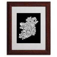 """""""Ireland Text Map 5"""" by Michael Tompsett Framed Textual Art"""