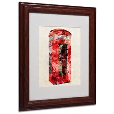 "<strong>Trademark Fine Art</strong> ""Telephone Box"" Matted Framed Art"