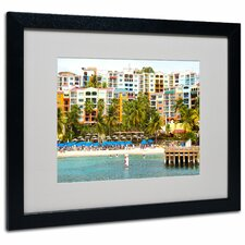 "<strong>Trademark Fine Art</strong> ""Virgin Islands 8"" Matted Framed Art"