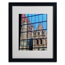 "<strong>Trademark Fine Art</strong> ""Trinity Church Reflection"" Matted Framed Art"