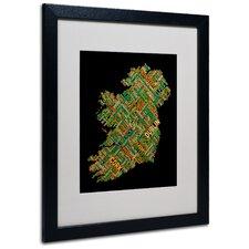 """Ireland IV"" by Michael Tompsett Framed Textual Art"