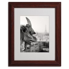 "<strong>Trademark Fine Art</strong> ""Gargoyle Paris"" Matted Framed Art"