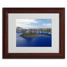 "<strong>Trademark Fine Art</strong> ""Wizard Island"" Matted Framed Art"