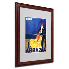 "<strong>Trademark Fine Art</strong> ""Italia Abbazia"" Framed Matted Art"