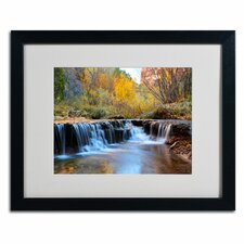 "<strong>Trademark Fine Art</strong> ""Zion Autumn"" Matted Framed Art"