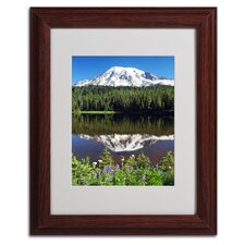 "<strong>Trademark Fine Art</strong> ""Rainier Wildflowers"" Matted Framed Art"