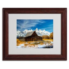 "<strong>Trademark Fine Art</strong> ""Iconic Barn Grand Teton"" Matted Framed Art"