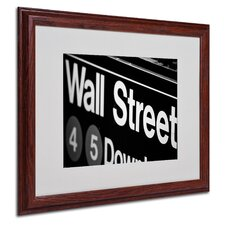 "<strong>Trademark Fine Art</strong> ""Wall Street Next"" Matted Framed Art"