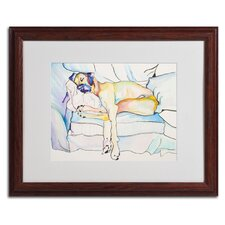 "<strong>Trademark Fine Art</strong> ""Sleeping Beauty"" Matted Framed Art"
