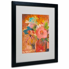 "<strong>Trademark Fine Art</strong> ""Copper Vase 3"" Matted Framed Art"