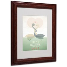 "<strong>Trademark Fine Art</strong> ""Paraducks"" Matted Framed Art"