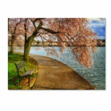"""Meet Me At Our Bench"" by Lois Bryan Photographic Print on Canvas"