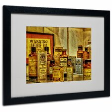 "<strong>Trademark Fine Art</strong> ""Vintage Medicines"" Matted Framed Art"
