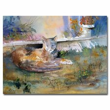 <strong>Trademark Fine Art</strong> 'Cat Nap' Canvas Art