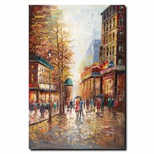 <strong>Trademark Fine Art</strong> 'French Street Scene I' Canvas Art