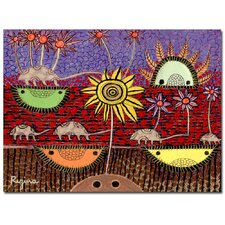 <strong>Trademark Fine Art</strong> Regina 'Paisaje Insular' Canvas Art