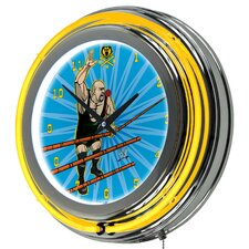 "<strong>Trademark Fine Art</strong> WWE 14"" Neon Wall Clock"