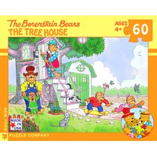 <strong>New York Puzzle Company</strong> Berenstain Bears Family Treehouse 60-Piece Puzzle