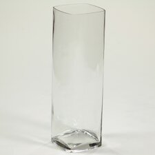 Square Rounded Corner Glass Vase