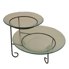 2 Tier Round Serving Tray