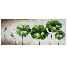 Green Flowers Original Painting