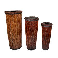 <strong>Entrada</strong> 3 Piece River Cane Basket Set