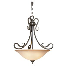 <strong>Laura Ashley Home</strong> Covey 4 Light Inverted Pendant