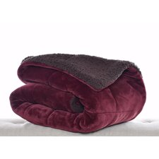 Eddie Bauer Premium Fleece Reversible Cotton Throw