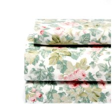 Cottage Rose Flannel Sheet Set