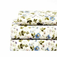 <strong>Laura Ashley Home</strong> Spring Bloom Flannel Sheet Set