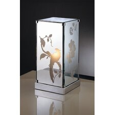 "Carin Mirrored 11"" H Table Lamp with Square Shade"