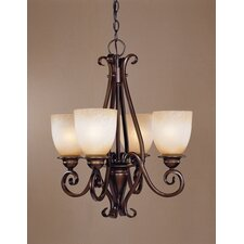 <strong>Laura Ashley Home</strong> Chamonix 4 Light Mini Chandelier