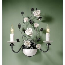 <strong>Laura Ashley Home</strong> Chantilly 2 Light Wall Sconce