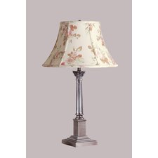 "Corinthian 22.13"" H Traditional Table Lamp with Bell Shade"