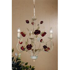 English Rose 3 Light Mini Chandelier