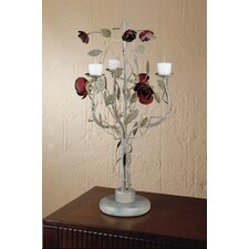 English Rose Stainless Steel Candelabra