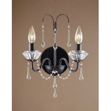 <strong>Laura Ashley Home</strong> Fountain 2 Light Wall Light