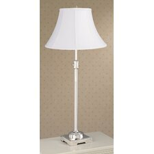 <strong>Laura Ashley Home</strong> State Street Adjustable Table Lamp with Calais Shade