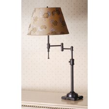 <strong>Laura Ashley Home</strong> State Street Swing Arm Table Lamp with Carla Shade