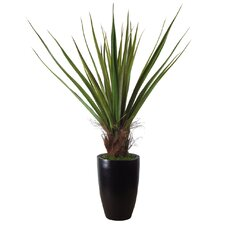 Tall High End Realistic Silk Giant Agave Plant with Contemporary Planter