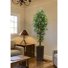 Tall High End Realistic Silk Bamboo Tree with Wood Planter