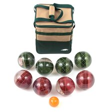 Clear 107 MM Tournament Resin Bocce Set