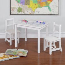 Kiddy 3 Piece Rectangle Table and Chair Set (Dry Erase Top)