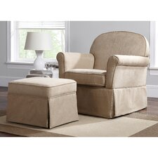 Swivel Glider and Ottoman