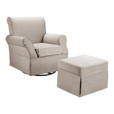 Kelcie Swivel Glider Chair & Ottoman Set