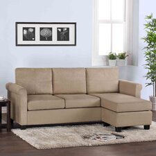Space Saving Microfiber Sectional