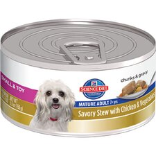 Small and Toy Mature Adult Savory Stew with Chicken and Vegetables Wet Dog Food (5.5-oz)
